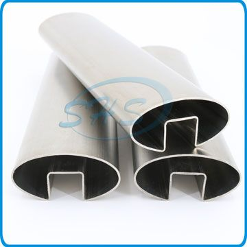 Stainless Steel Oval Slotted Pipes